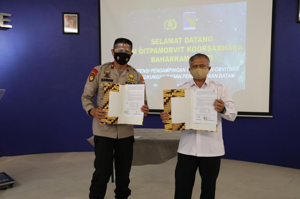 Diasistensi Mabes Polri, Direktorat Pengamanan Aset BP Batam Lakukan Survei Objek Vital Nasional di Lingkungan BP Batam