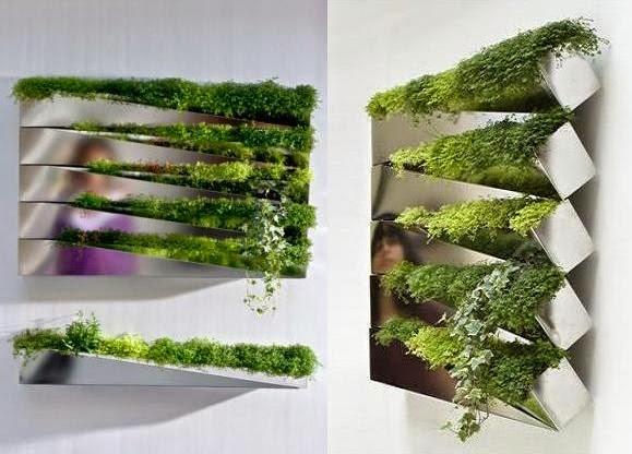 Mis notas del jard n jardines verticales interiores for Jardin vertical de fieltro en formato kit