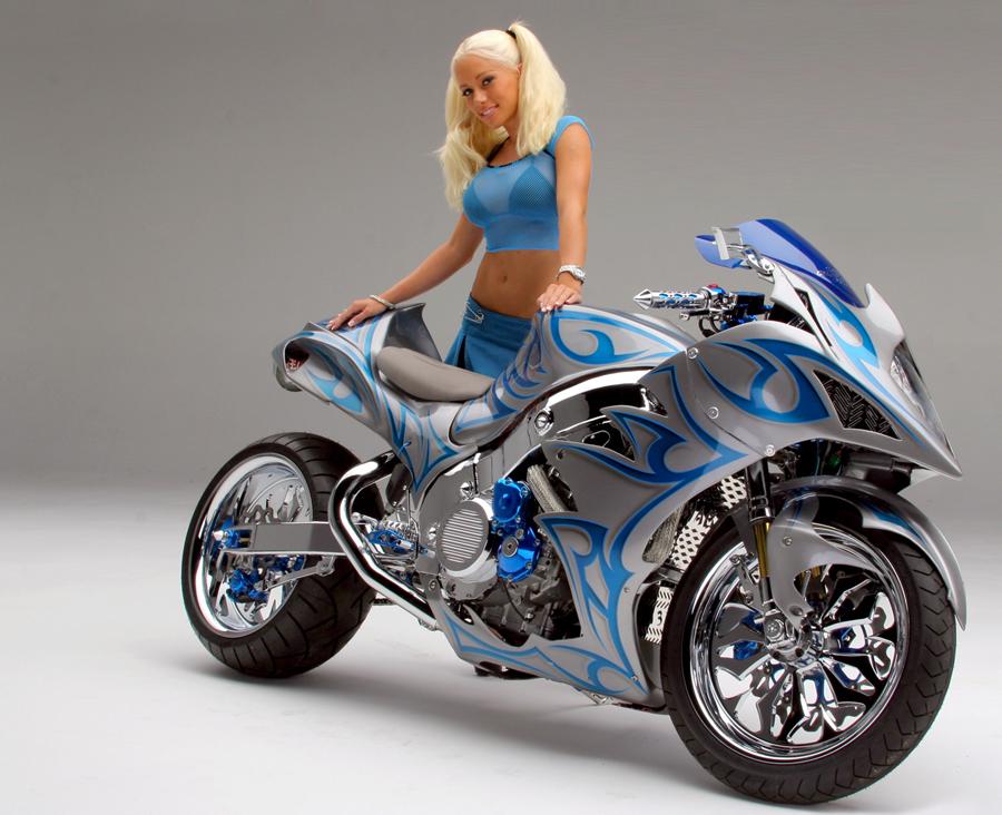 Biker Girlz Blue Bike  Blue Girl-5192