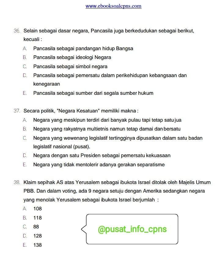 Info Cpns Pppk 2019 Pelajaran Bahasa Indonesia Contoh