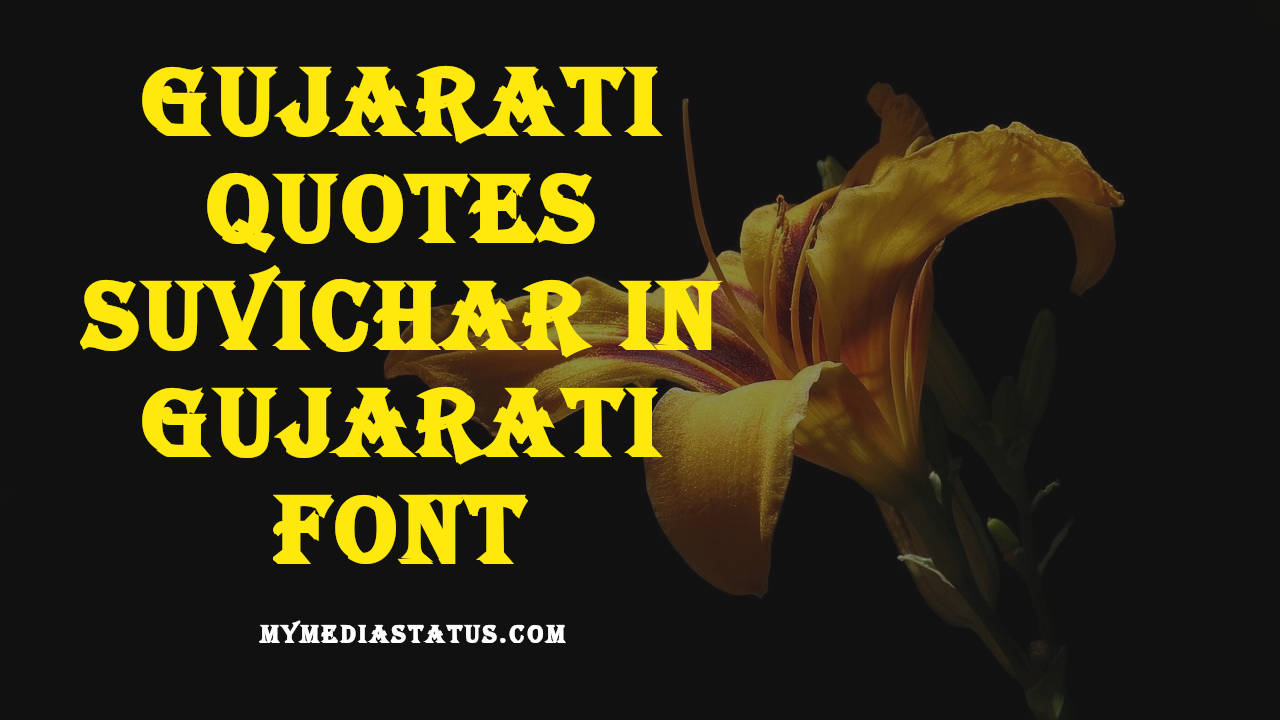 Best Gujarati Quotes in Gujarati Fonts and Text