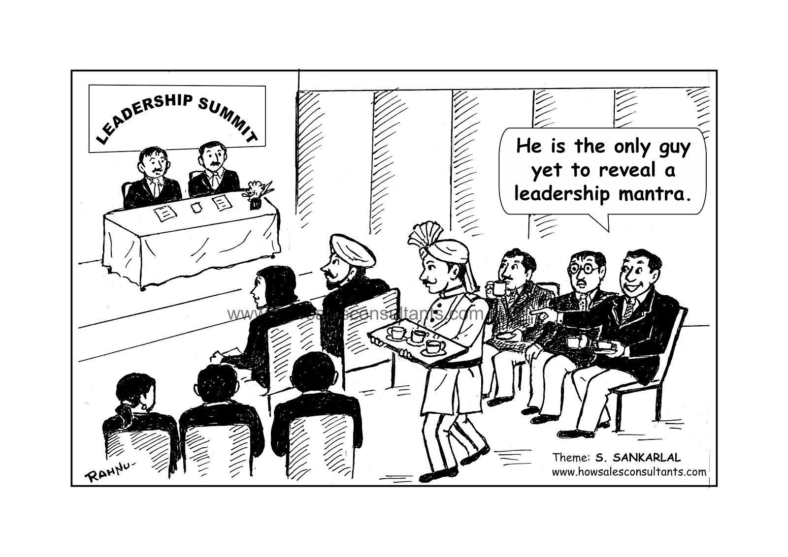 Sankarlal's Cartoons: Leadership Mantra