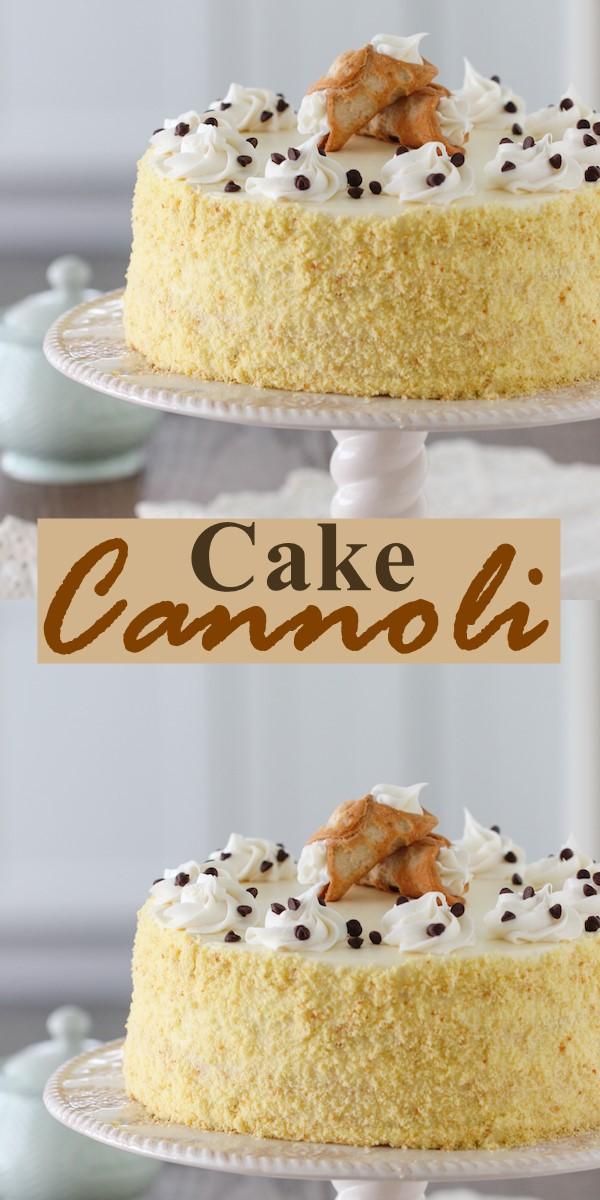 Cannoli Cake #cakerecipes