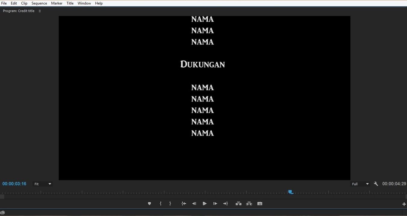 Cara membuat credit title di adobe premiere pro cc