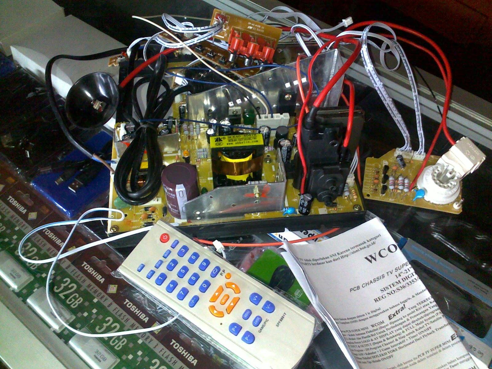 cara memasang mesin tv wcom