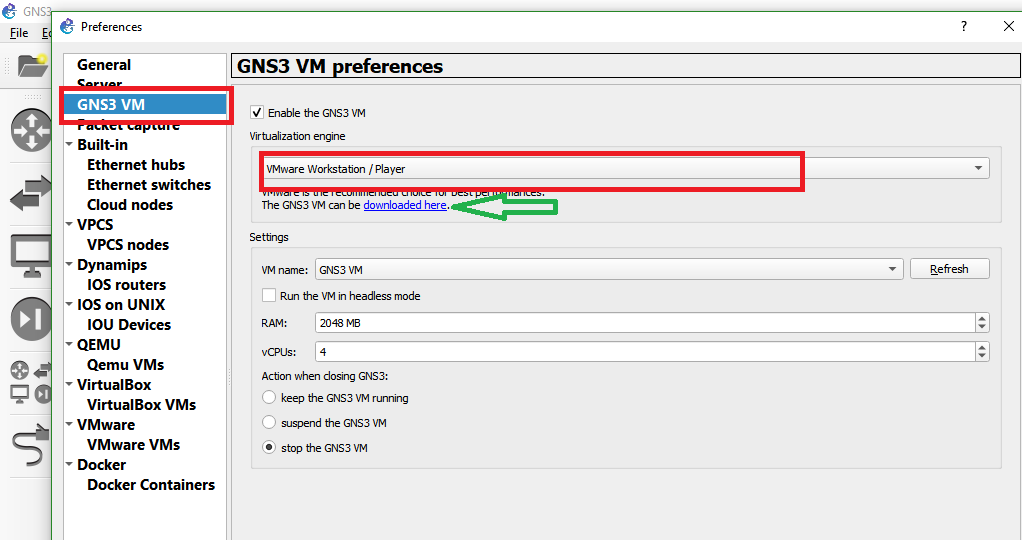 GNS3 Labs | CCNP | CCNA Labs: Gns3 vm is not available please