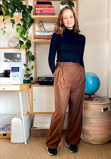 Gingerbread Wool Suiting By Hand London Jackie Trousers