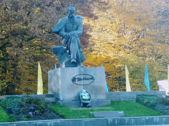 Моршин. Памятник Т. Г. Шевченко