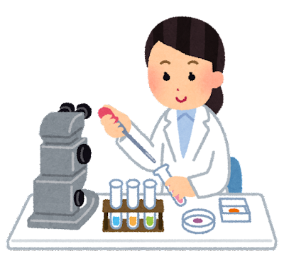 研究・科学実験のイラスト(女性)