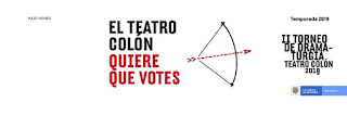 II TORNEO DE DRAMATURGIA 2019   Teatro Colon