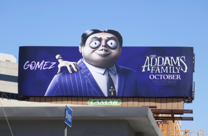 Addams Family Gomez extension billboard