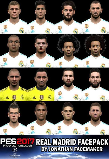 Real Madrid Facepack PES 2017