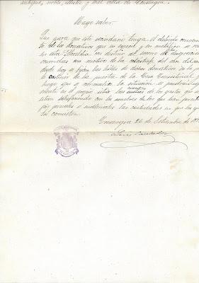 Bando de Alcaldía 26 de septiembre de 1891.