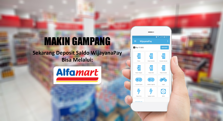 Cara Isi Saldo Deposit WijayanaPay Via Alfamart