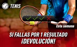sportium Tenis: Combinadas con seguro hasta 17-1-2021