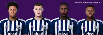 PES 2020 West Bromwich Albion Facepack 1 by Davidjm08