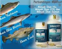 【(Quality)】 SQUAVIT 40 Softgel Squalene Deep Ocean Fish Liver Oil - Minyak Ikan Omega 3 6 Squa Origi