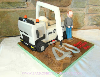 40th birthday truck cake