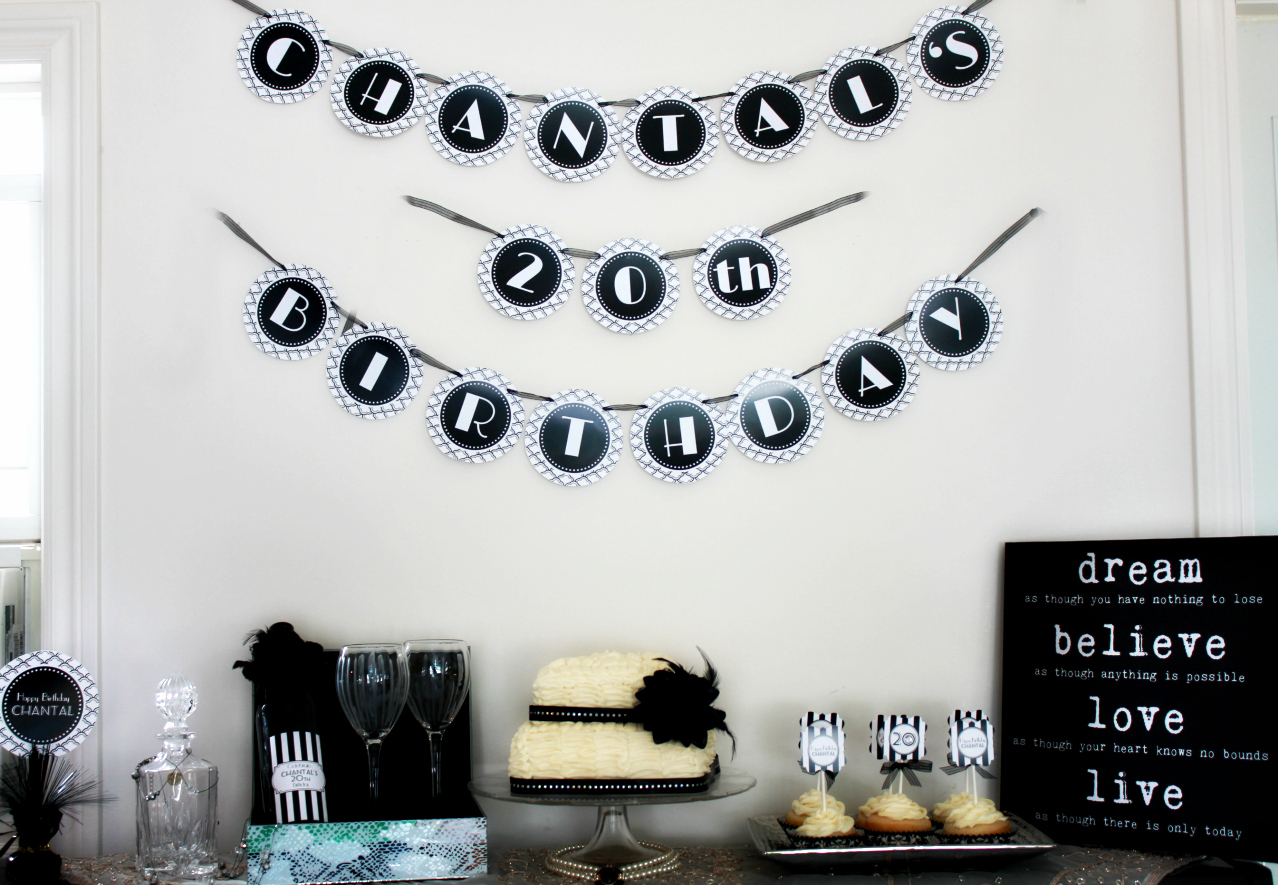 Black And White Birthday Party Decoration Ideas Pics Download