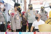 Kapolda Sulsel Tinjau Program 10 Ribu Vaksinasi di Mall Ratu Indah Makassar