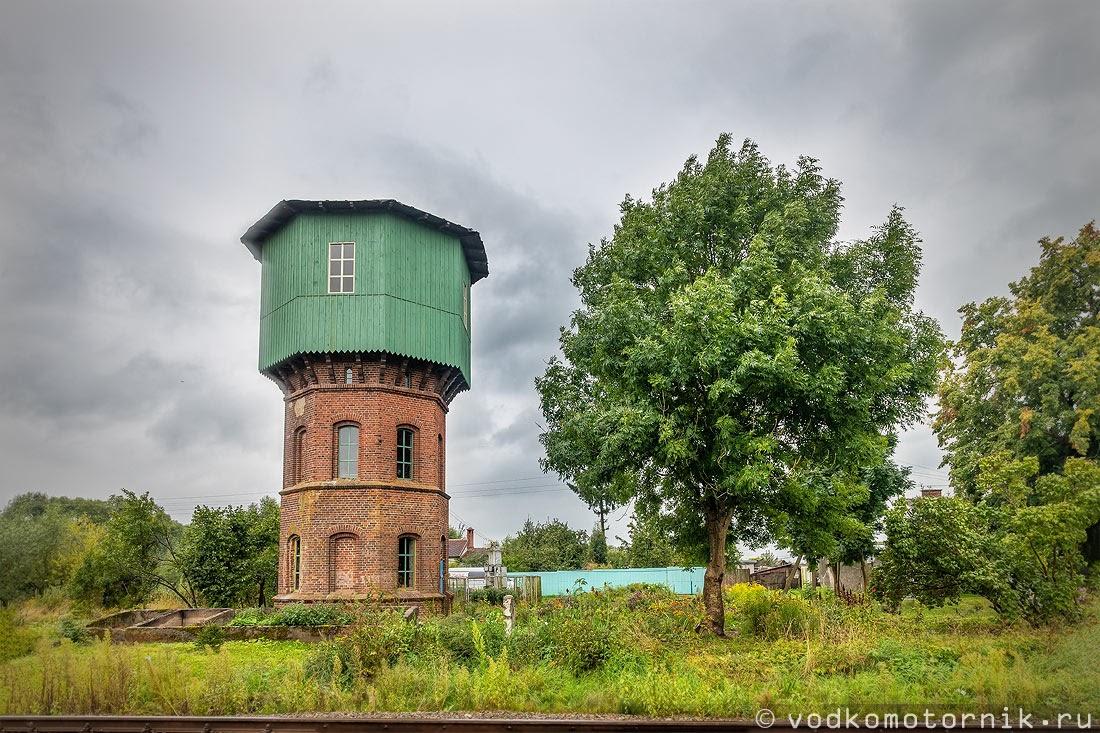 Водонапорная башня в поселке Светлое