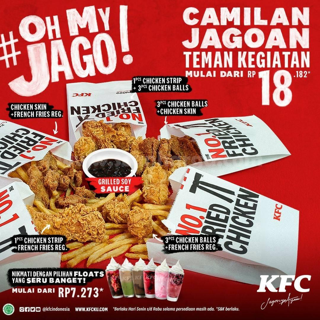 KFC Promo OH MY JAGO! Paket CAMILAN JAGOAN mulai Rp 18.182