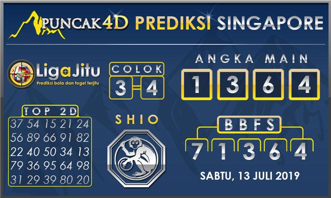 PREDIKSI TOGEL SINGAPORE PUNCAK4D 13 JULI 2019