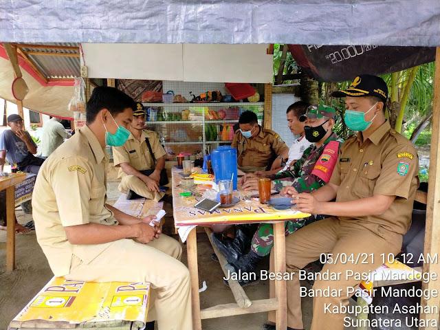 Adakan Kunjungan, Personel Jaajran Kodim 0208/Asahan Laksanakan Komunikasi Sosial Dengan Perangkat Desa