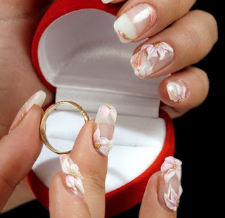 wedding bride nail art designs