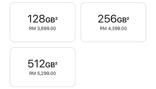 kapasiti dan harga iPhone 13