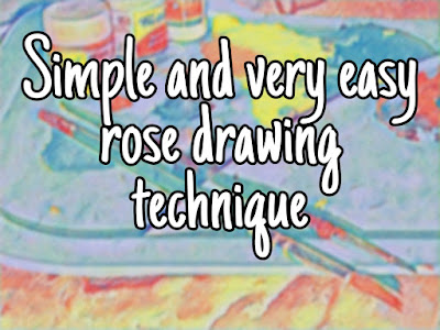 Simple And Very Easy Rose Drawing Technique