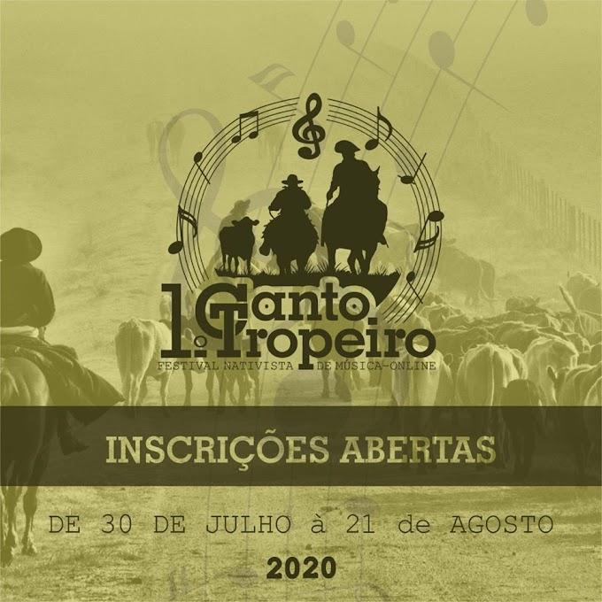 Vão até o dia 21 de agosto as inscrições para o 1º Canto Tropeiro - Festival Nativista de Música