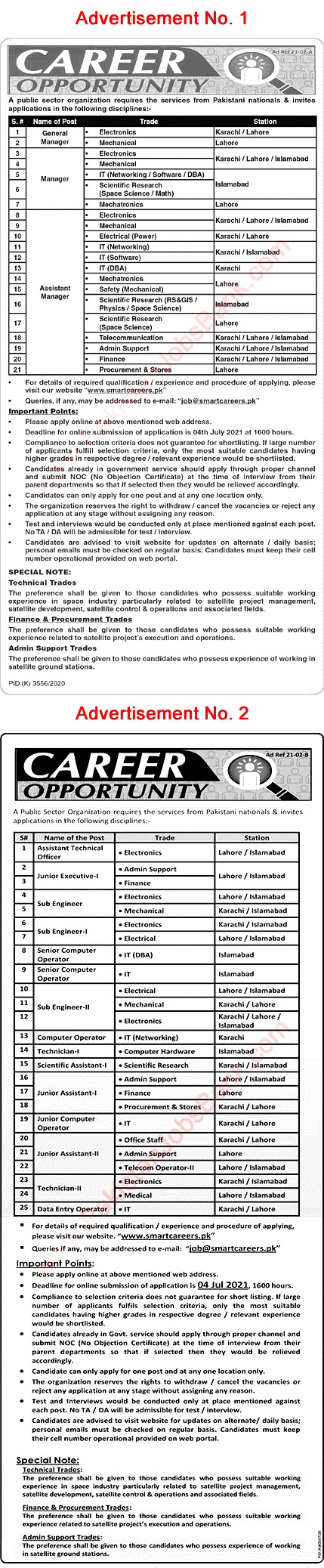Pakistan Space & Upper Atmosphere Research Commission  SUPARCO Latest Jobs in Pakistan