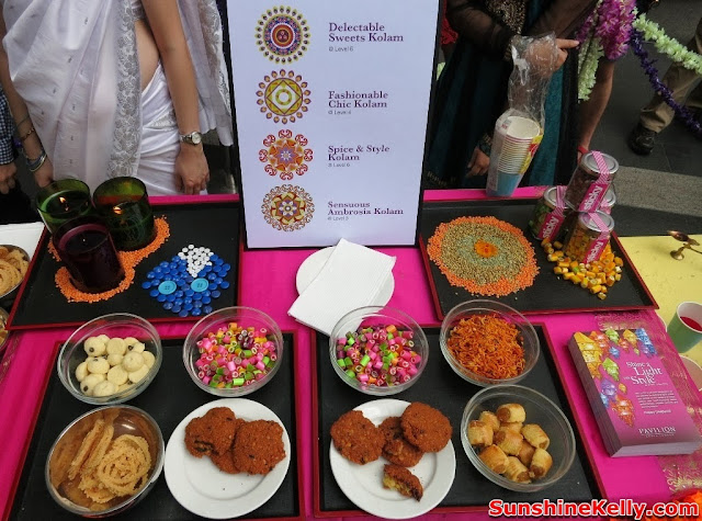 Deepavali, Pavilion KL, festival of light, kolam, making kolam, indian culture, muruku, indian delicacies