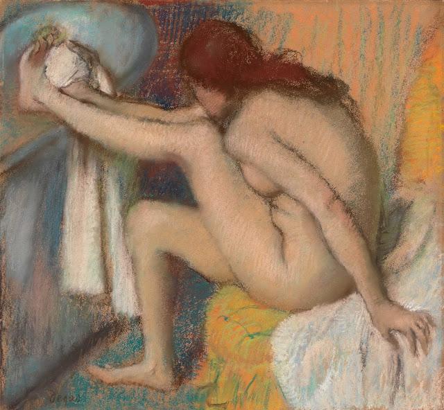 Эдгар Дега - Женщина вытирающая ногу (1885-1886)