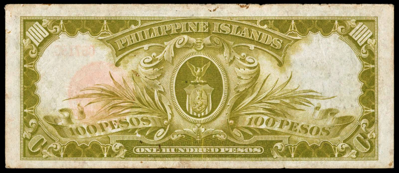 1929 Philippine Islands One Hundred Pesos Treasury Certificate