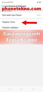 Cara mengganti Tema Realme C1