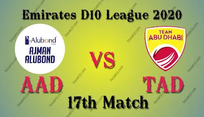 Who will win AAD vs TAD 17th T10 Match