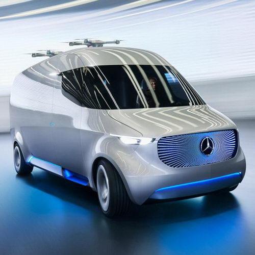 Tinuku Mercedes-Benz Siapkan Van Cargo Listrik Dilengkapi Drone Pengirim Paket