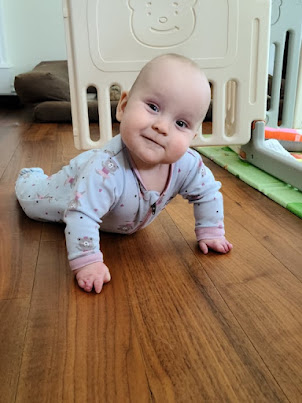 Our newest granddaughter Amelia, 7 months