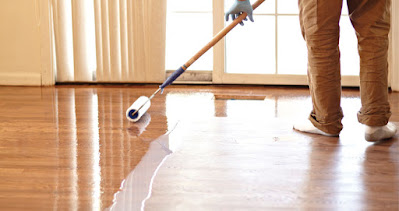 pel lantai kayu