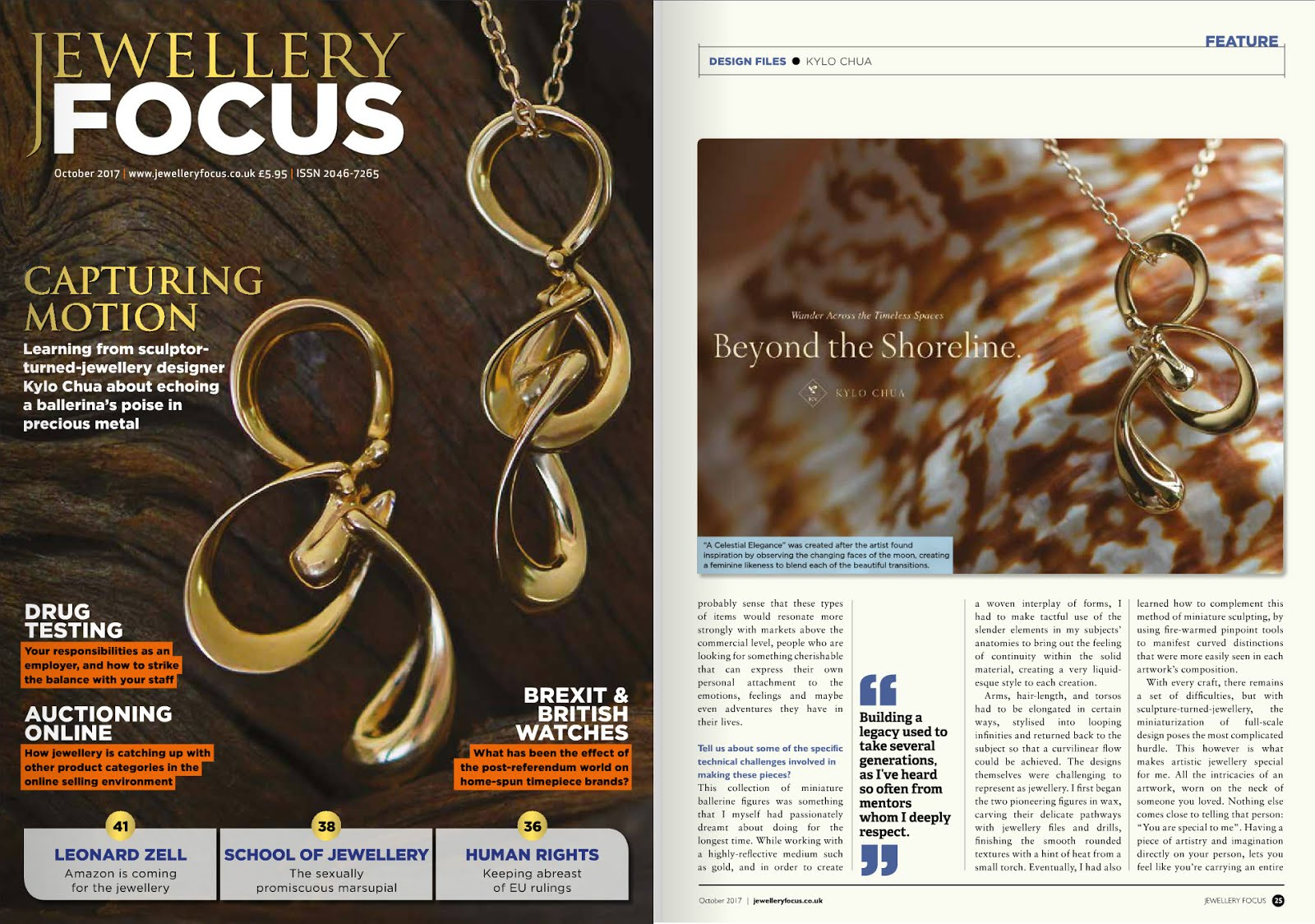 Cover Spotlight on Jewellery Focus Magazine, London, UK | October 2017