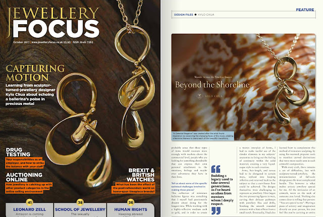 Cover Spotlight on Jewellery Focus Magazine, London, UK | October 2017