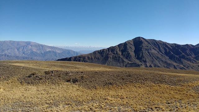 vista, cumbre, La Tordilla, trekking