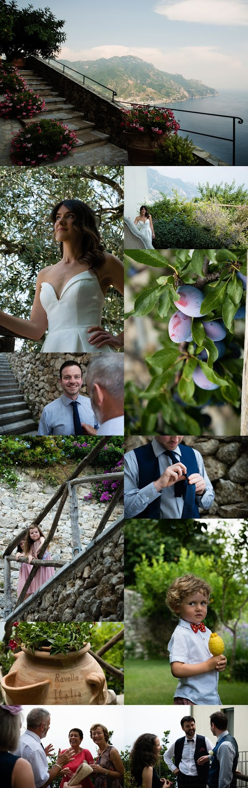 Rustic modern wedding details in Ravello