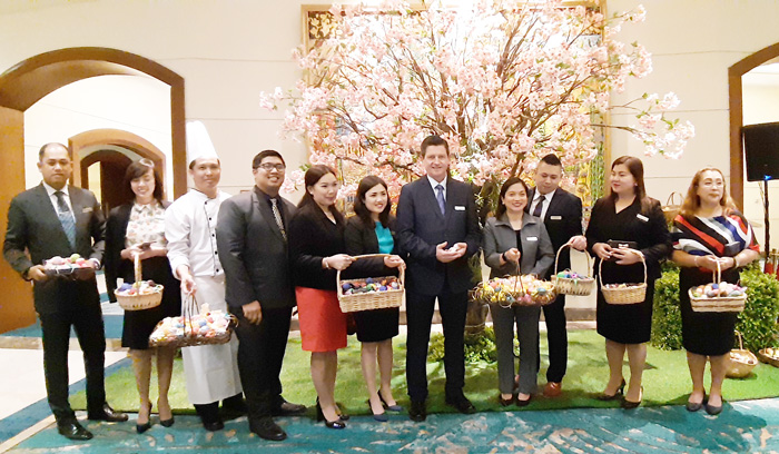 Mr. Colin Healy, General Manager Marco Polo Davao with the hotel's executives