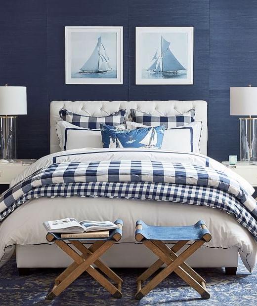 Blue Sail Boat Prints