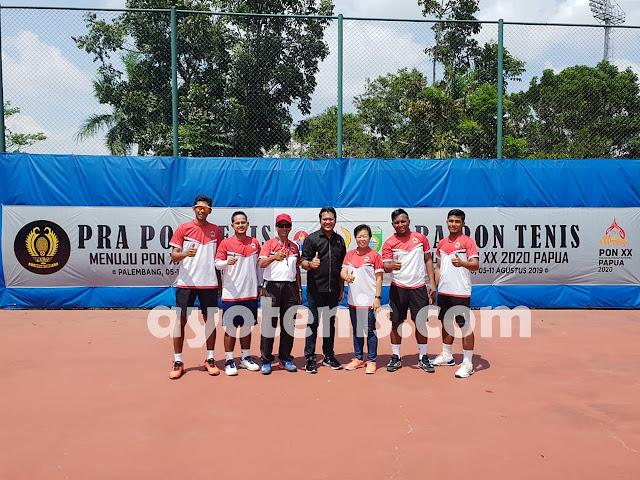 Pra PON Tenis: Libas Unggulan Teratas, Putra Jateng Melenggang ke PON XX Papua 2020