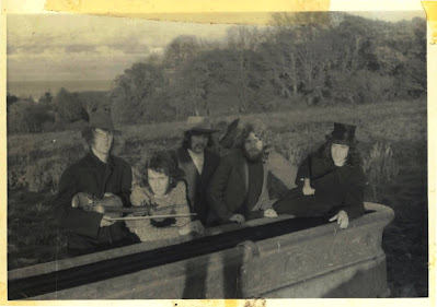 Mushroom (left to right: Pat Collins, Michael Power, John Dee, Alan Browne and Colm Lynch) 1972, first photo