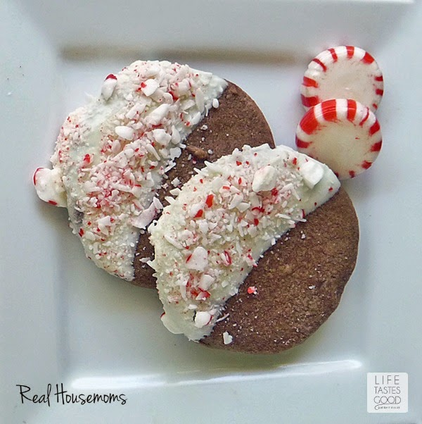 Chocolate Peppermint Crunch Cookies | by Life Tastes Good